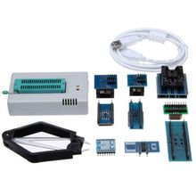 Mini Pro TL866CS USB BIOS Universal Programmer Kit With 9 Pcs Adapter genius usb bios programmer g540 universal flash gal avr pic eprom programmer device with ic socket adapter