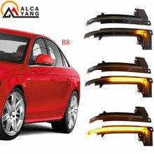 цена на For Audi A4 S4 B8 2008-12 A5 S5 A8 S8 D3 A3 S3 8P A6 S6 RS6 C6 Q3 RS Q3 8U Side Wing Mirror Indicator Dynamic Turn Signal Light