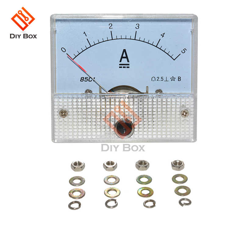 85C1-A DC Analog Ammeters Current Meter Tester แผงตัวชี้ประเภท 5A AMP Gauge Current Mechanical Ammeters DIY ไฟฟ้า