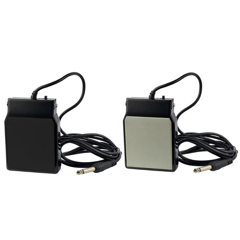 SP20 Black Sustain Pedal Foot Switch For Electronic Keyboard Drum Tone Q6PB