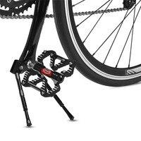 Liga de alumínio da bicicleta kickstand ajustável mtb estrada suporte da bicicleta pé cinta rack estacionamento mountain bike pedal suporte|Apoio| |  -