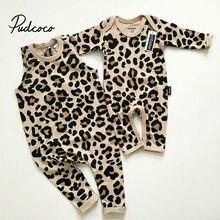 Новинка года; одежда для малышей хлопковая одежда для малышей комбинезон с леопардовым принтом Одежда для новорожденных мальчиков и девочек 3-24 месяцев; комбинезон