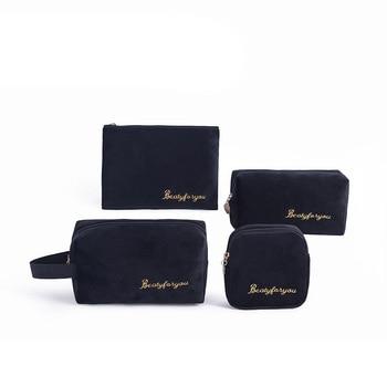 цена на Velvet New woman Sanitary Napkin Storage Bag Portable Travel Storage Key Coin Bags Cosmetic Lipstick Pouch Zipper Small Purse