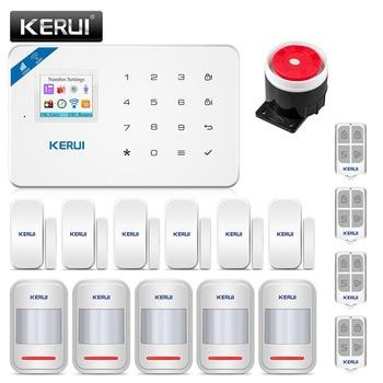 KERUI W18 Wireless WiFi GSM Home Security Alarm System Burglar Alarm Kit Android ios APP Control  With Remote Controller kerui w18 wireless wifi gsm alarm systems security ios app gsm sms burglar alarm system motion sensor russian warehouse