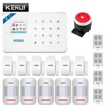 KERUI sistema de alarma de seguridad para el hogar W18, inalámbrico, WiFi, GSM, Kit de alarma de robos, Control por aplicación Android ios con mando a distancia