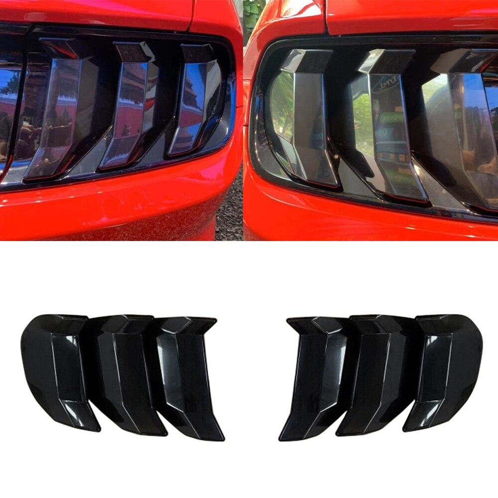 Задний светильник для Ford Mustang 2018, 2019, 2020, задний светильник, защитный задний светильник, декоративная наклейка, отделка, ABS, черный, внешние ак...