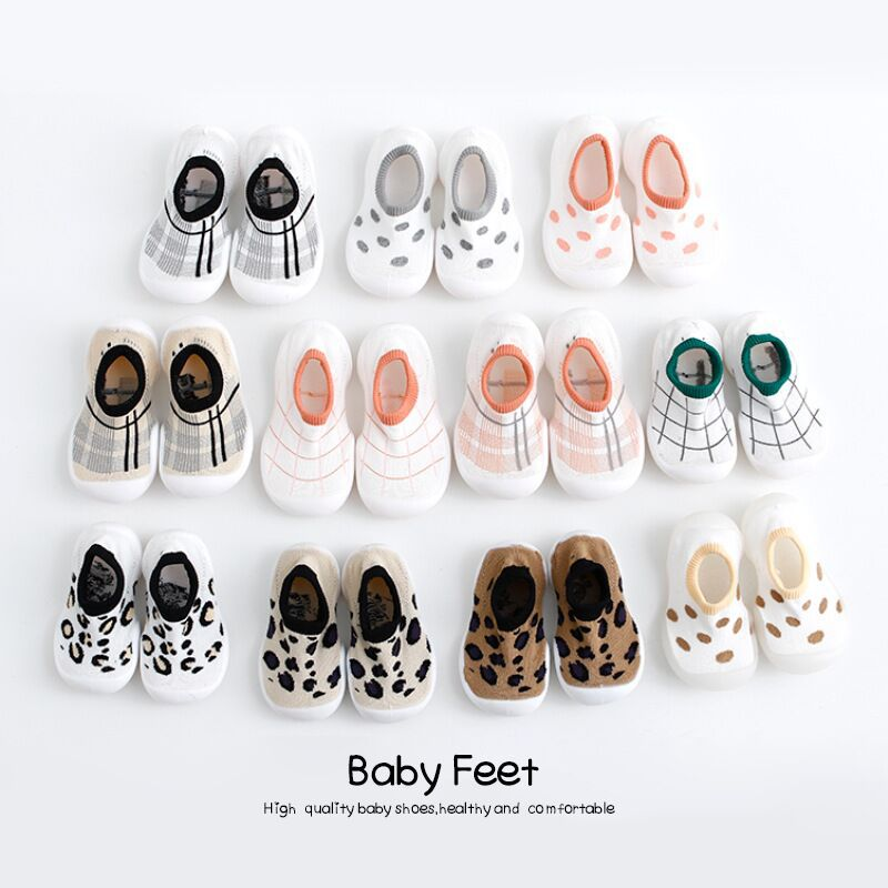 Babys Shoe Breathable Antiskid Baby Shoe Spring Summer Leopard Print Children's Rubber Sole Shoes Baby Cartoon Toddler Shoe