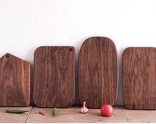 Noz preta cozinha de madeira maciça rootstock lacquerless placa de corte de frutas com placa de corte de madeira tábua de cortar