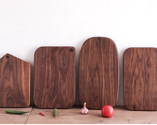 Siyah ceviz tüm ahşap mutfak katı ahşap anaç Lacquerless meyve kesme tahtası ahşap kesme tahtası kesme tahtası