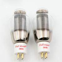 1Pair TJ Fullmusic 300B Vacuum Tube Solid Plate Gold Pins Ceramic Base Alternative To Other Brands Tuba Audio For Vintage Hifi