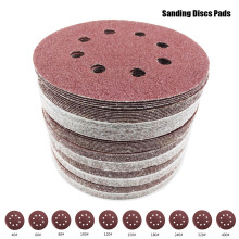80pcs High Quality Sanding Discs 125mm Abrasive Sand Paper Disc with Grits  Hook & Loop Backer Plate