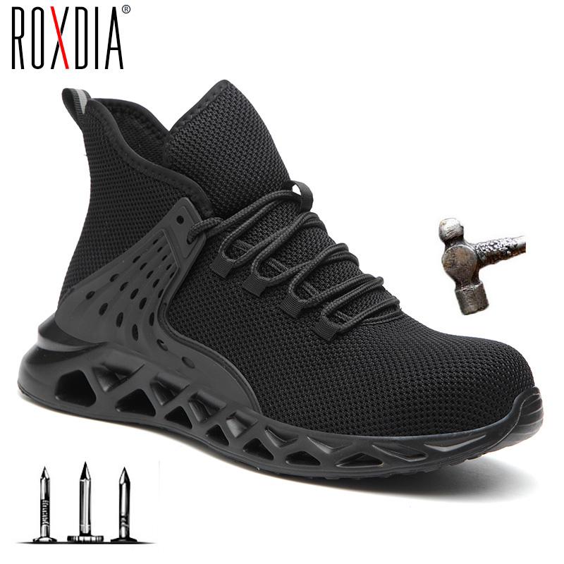 Drop Shipping Fashion Safety Boots Men Steel Toe Breathable Work Shoes Sneakers Casual Male Shoes Plus Size 38-48 RXM169