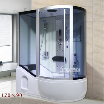 A5 Household Bathroom Shower Room Integrated One-piece Shower Room Tempered Glass Steam Shower Room With Bathtub 110V/220V 3000W 8pcs shower room bathroom glass door swing round pulley roller wheel circular shower wheel rolling wheel