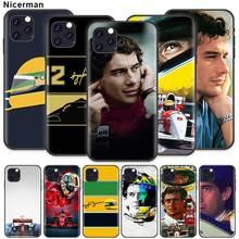 Ayrton Senna Case for Apple iPhone 11 X XR XS Max 7 8 6 6S Plus 5 5S SE 5C Black Silicone Cobrir Phone Cover Coque ayrton senna case for apple iphone 11 x xr xs max 7 8 6 6s plus 5 5s se 5c black silicone cobrir phone cover coque
