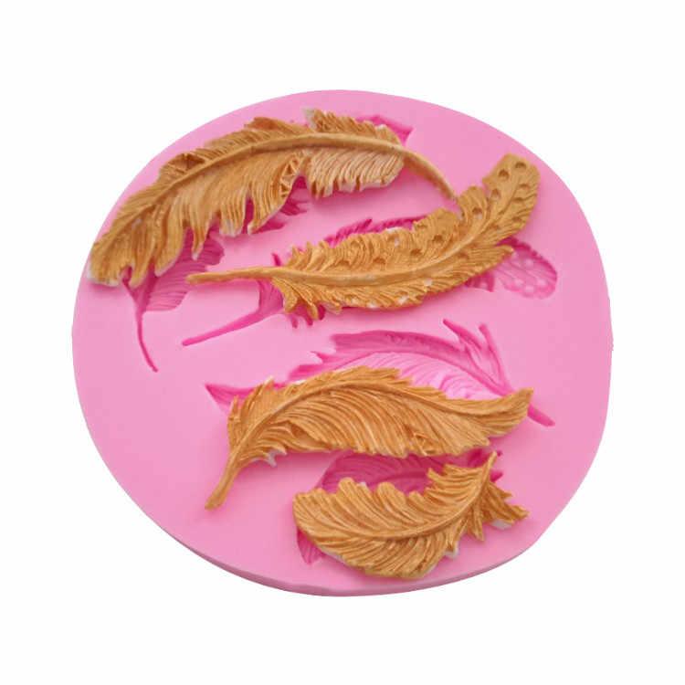 Piuma della torta che decora gli attrezzi stampi in silicone per l'artigianato 3d di Cioccolato Fondente stampi per la cottura la migliore vendita 2019 prodotti F726