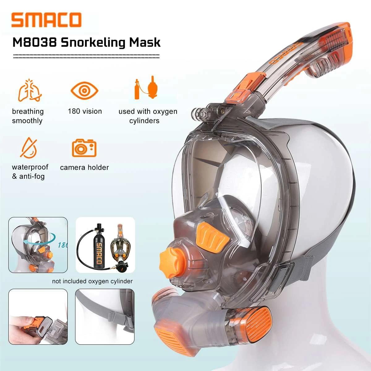 Full Face Cover Snorkel Scuba Diving Swimming Breath Underwater Anti Fog M//L
