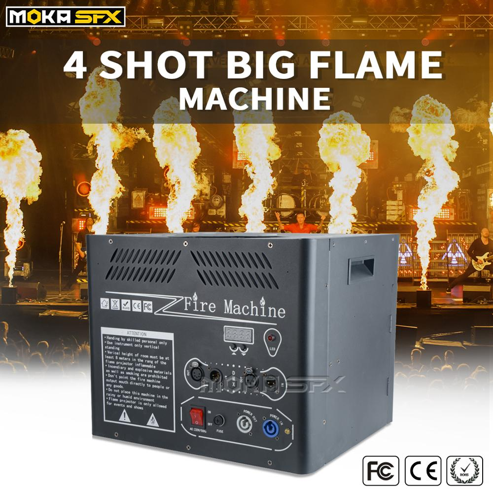 MOKA SFX 4 Heads Big Fire Flame Machine Instant Stop Dmx Flame Projector Jet 6m For Big Stage Events