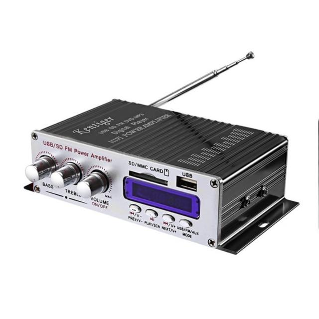 KYYSLB 2020 Neue 370BT Fernbedienung Bluetooth Verstärker Computer MP3U Festplatte Sd karte Wiedergabe, radio Funktion 12V Auto Verstärker
