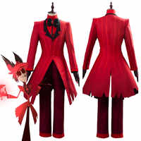 ALASTOR Uniform Cosplay Kostüm Erwachsene Männer Halloween Karneval Weihnachten Kostüme Roten Anzug