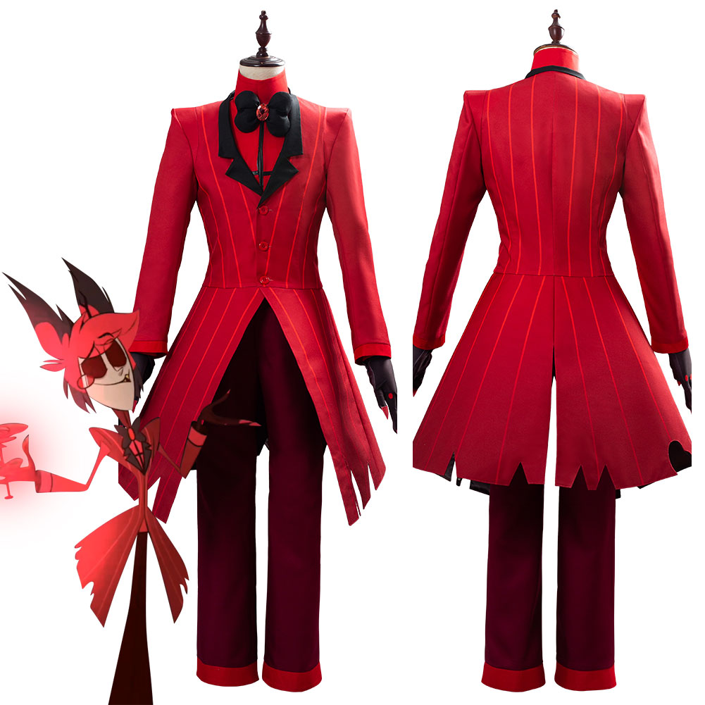 Hazbin Cosplay Hotel ALASTOR Uniform Cosplay Costume Adult Men Halloween Carnival Christmas Costumes Red Suit