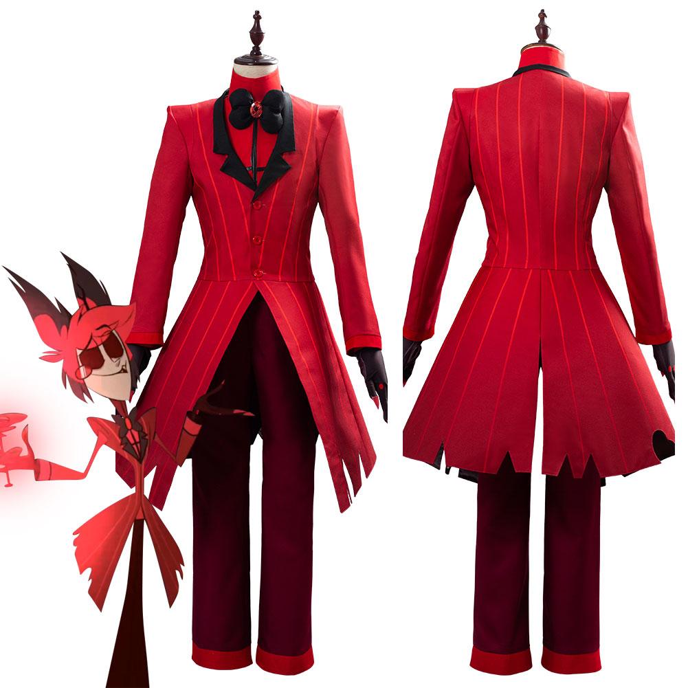 Hazbin Cosplay Hotel ALASTOR Uniform Cosplay Costume Adult Men Halloween Carnival Christmas Costumes Red Suit(China)