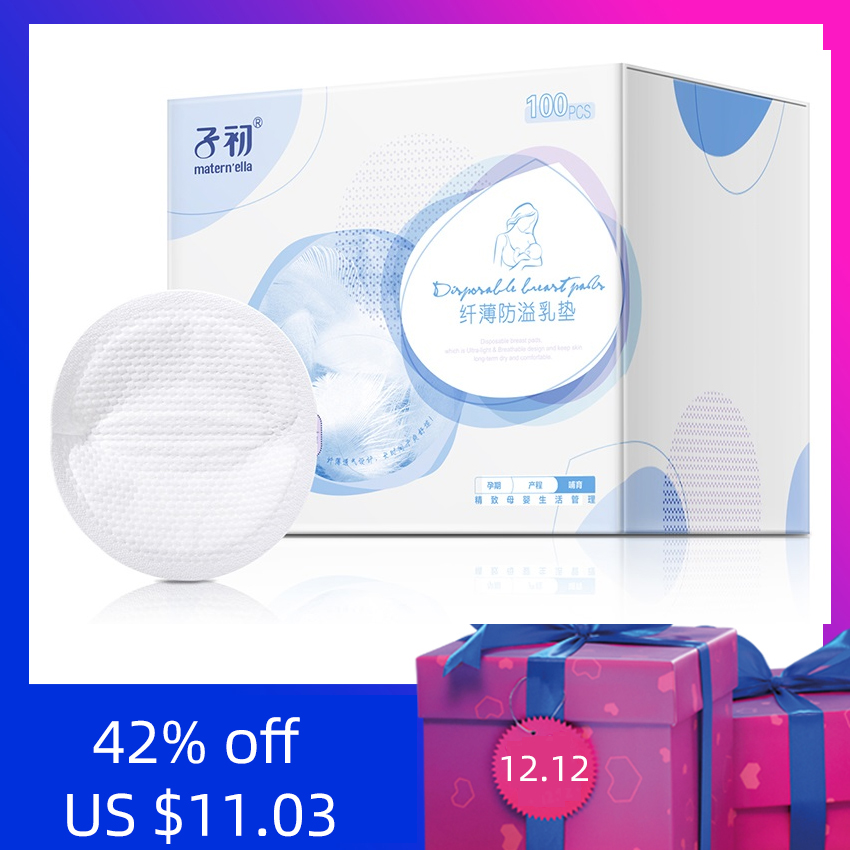 Disposable Breast Pad Autumn Overflow Breast Pad Leakproof Breastfeeding Ultra-thin Anti-overflow Spill Milk Nursing Pad 100pcs