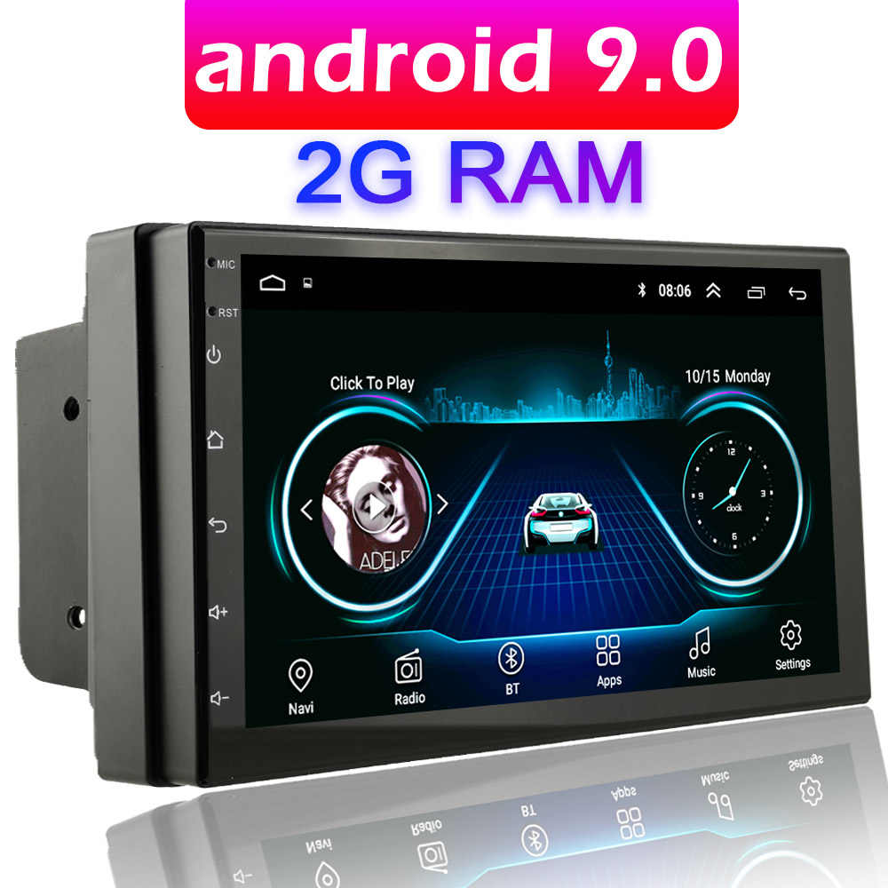 "Car Multimedia Player Andriod GPS di Navigazione 2DIN HD Autoradio 2G RAM USB FM 2 Din 7 ""Car Audio radio Stereo Video 1G WIFI AUTO"