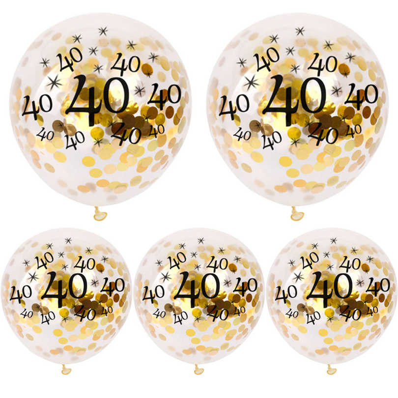 5 Buah Dekorasi Pesta Ulang Tahun Anak-anak Dewasa 40th 50th 30 40 50 Ulang Tahun Balon Helium Selamat Ulang Tahun Balon Air Nomor baloon J30