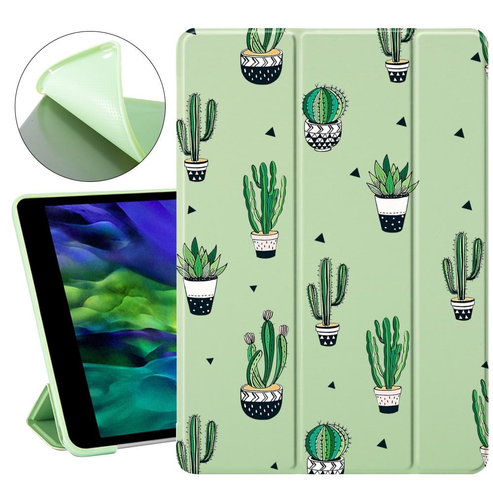 Cactus carino per Air 4 10.2 ipad 8th 2020 7a generazione custodia Pro 12.9 custodia 2020 Mini 5 Cover Silicone morbido per ipad Mini 2 Air 3