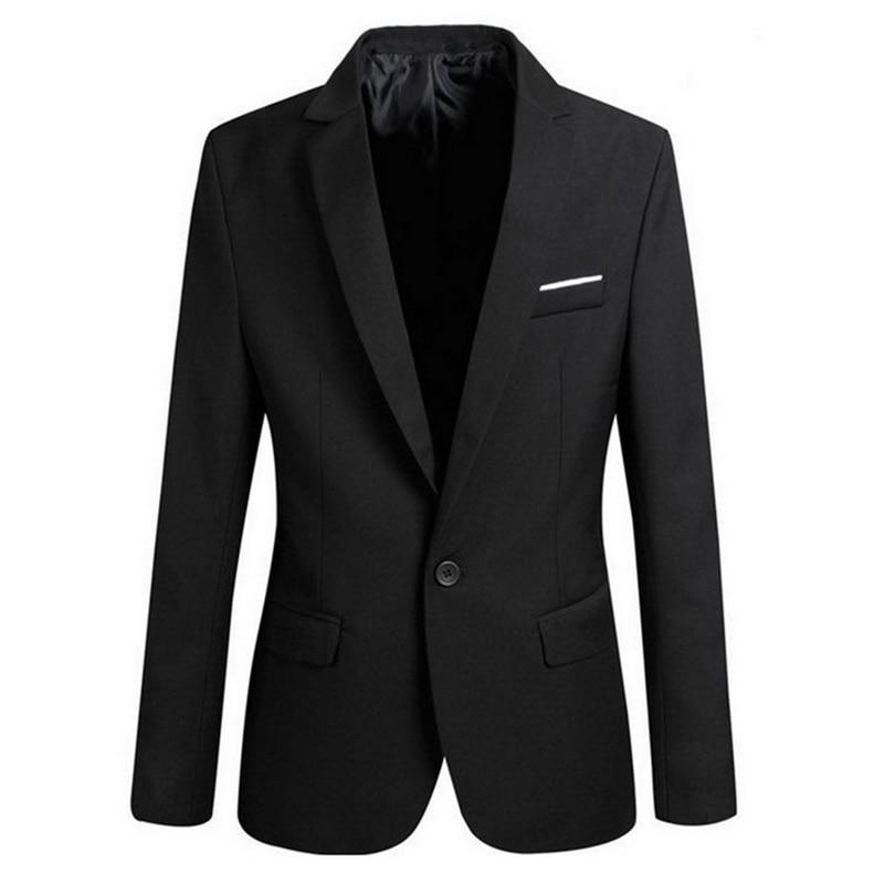 MoneRffi Men Slim Fit Social Blazer Spring Autumn Fashion Solid Mens Wedding Dress Coat Casual Size Business Male Suit Jacket