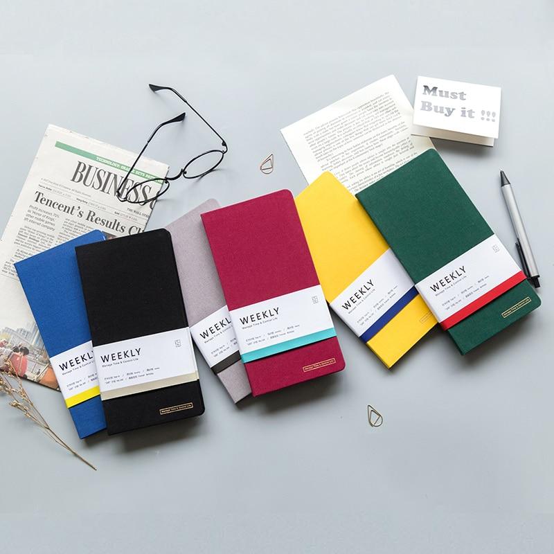 Colored Weekly Planner Bullet Journal School Notebook Supplies