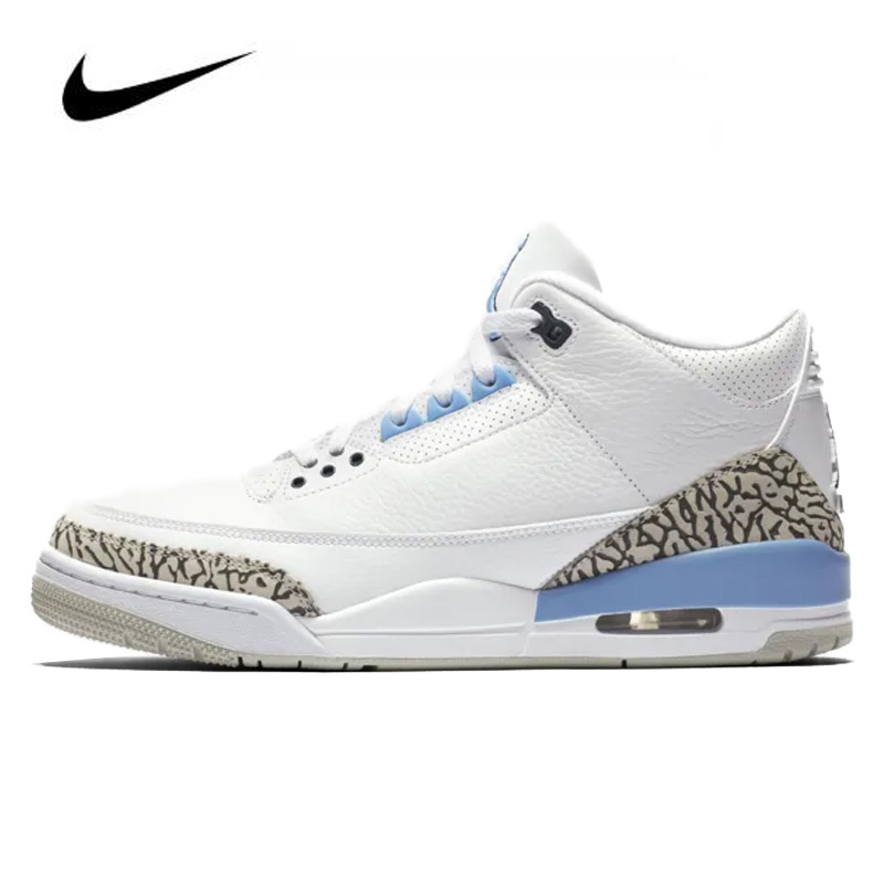 Nike Air Jordan Retro 3 Valor Blue Mens Jordan Basketball Shoes High-top Men's Jordan Shoes Basketball Shoe Gym Training Boots