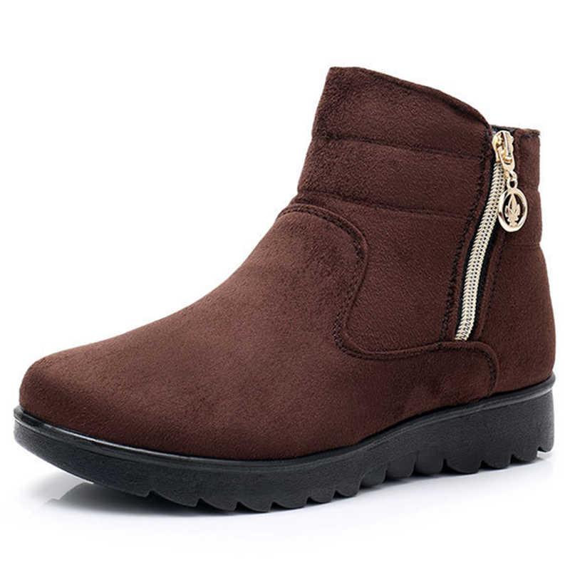 2019 kış kar botları kadın kış ayakkabı Zip sıcak peluş soğuk kış kadın çizmeler bayanlar marka yarım çizmeler için botas