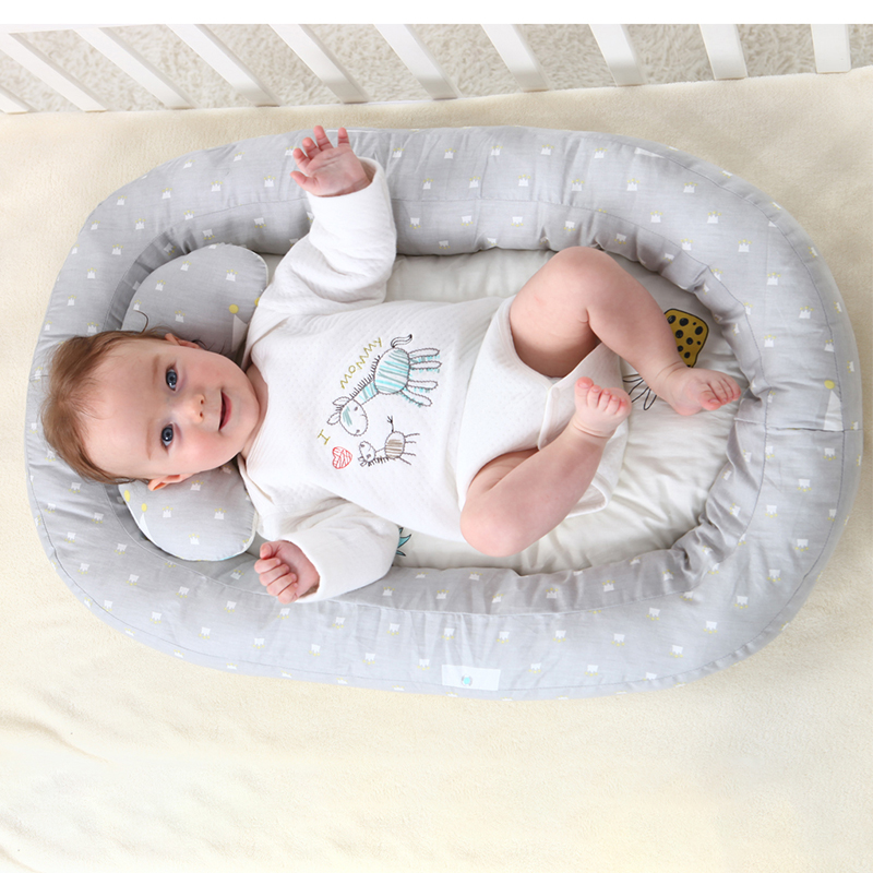 Baby Nest Bed Portable Foldable Baby Crib Newborn Travel Bed Sleeper Babynest For Newborn Infant Bed With Pillow 74*51*15 Cm