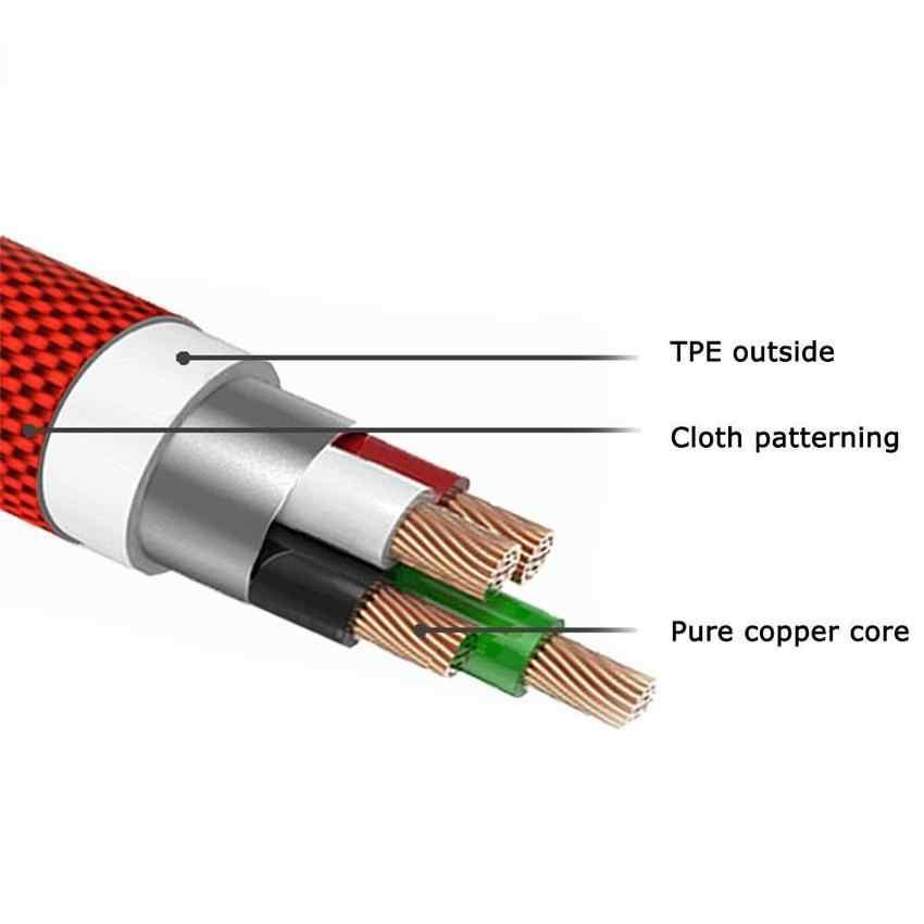 25 سنتيمتر USB إلى نوع C كابل شحن قصير الكوع 90 درجة USB C المصغّر USB كابل