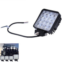 16LED 12V 24V 4x4 Vehicle SUV Car Led light bar Spotlight Flood Work Light 48W 3520LM Off Road LED Bar