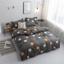 cute cartoon endless bedding set 5 size bed linen 3/4pcs AB side duvet cover flat sheet pillowcase