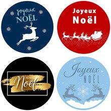Joyeuses Noel – autocollants auto-adhésifs pour scellage de cadeaux de noël, étiquettes décoratives pour nouvel an, fêtes de fin d'année, 3.5/4.5cm