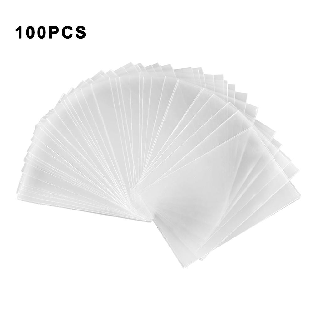 100PCS Transparent Magic Game Cards Protector Poker Cards Protector Board For Mtg Tcg Card Protectors For Tarot Game Cards