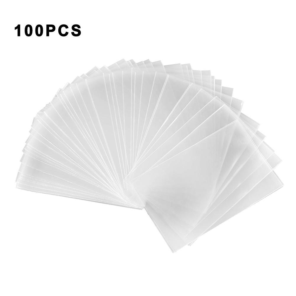 100PCS Transparent Magic Game Cards Protector Poker Cards Protector Board For Mtg Tcg Card Protectors For Tarot Game Cards