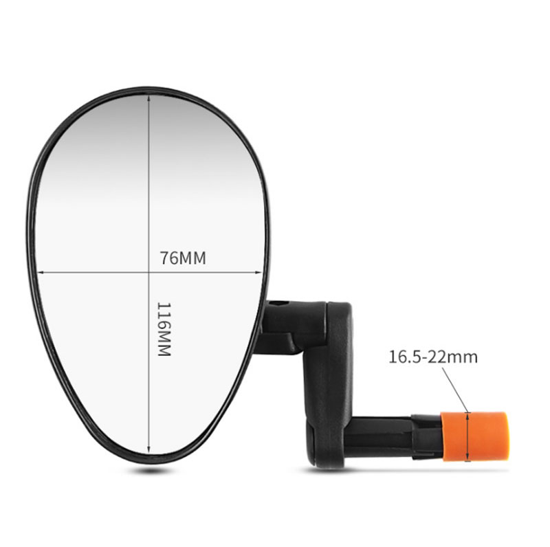 Bicycle Rear View Mirror CXWXC Convex Glass Bike Mirror Handlebar Mount Bicycle Mirror Bar Ends Back Mirror Good Quality in Bike Mirrors from Sports Entertainment