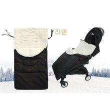 Детская коляска, спальный мешок, конверт для коляски, теплый толстый спальный мешок, универсальная муфта для ног, удобный фартук для коляски