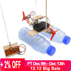 Boat Toys Assembly Scientific-Experiment-Model-Kits Battery-Powered Educational-Toy Remote-Control