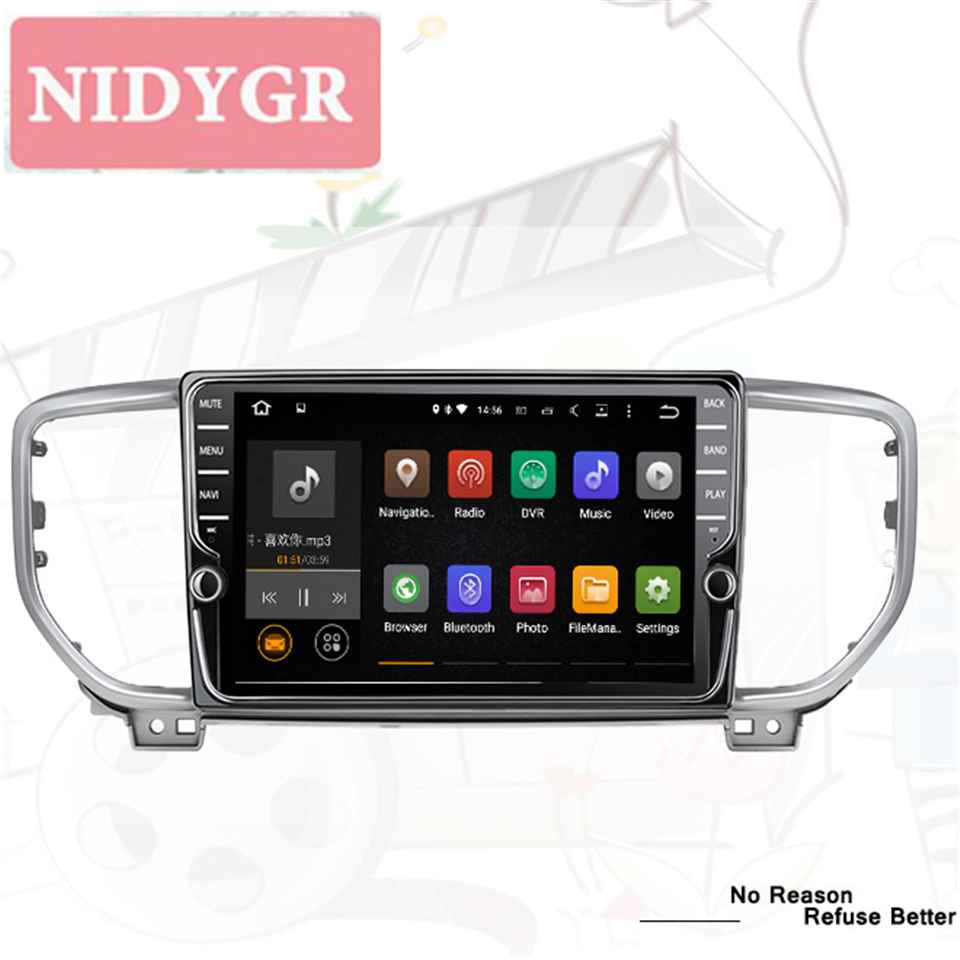Radio For <font><b>KIA</b></font> <font><b>Sportage</b></font> 4 QL 2018 2019 2020 <font><b>Car</b></font> Radio Multimedia Video Player Navigation GPS Android 10.0 No 2din 2 din dvd image