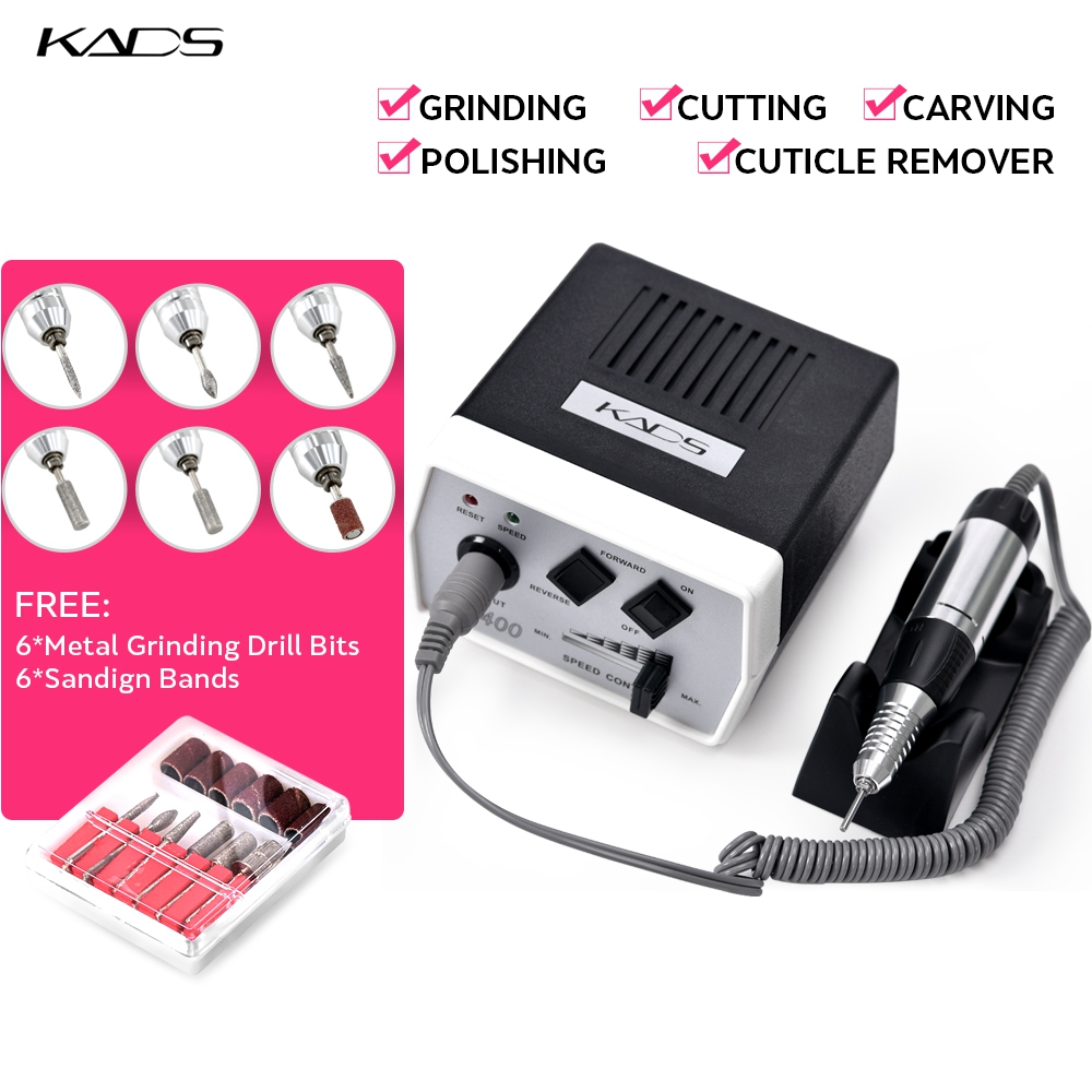 Image 3 - KADS 30000RPM manicure electric pedicure machine 35W Nail Drill Pen Set Black nail drill machine for Manicure Pedicure Tools-in Electric Manicure Drills from Beauty & Health