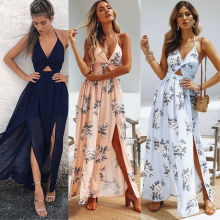 Women Sexy Sleeveless Solid Color Maxi Long Dress Causal Holiday Beach Party Vestido Vestidos De Fiesta Robe
