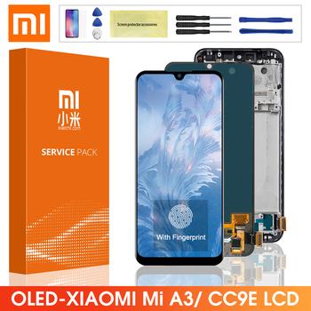 Ekran Super AMOLED dla Xiaomi Mi CC9E wyświetlacz LCD ekran dotykowy Digitizer montaż z ramą dla Xiaomi Mi A3 MiA3 Lcd tanie i dobre opinie CN (pochodzenie) Ekran pojemnościowy 1520x720 3 Xiaomi Mi A3 CC9E LCD i ekran dotykowy Digitizer 6 09 Black Blue Silver