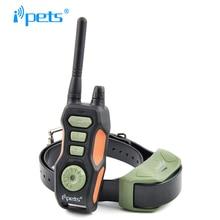 Ipets 618-1 горячая Распродажа 800 м дистанционный тренировочный ошейник перезаряжаемый и водонепроницаемый e-ошейник для собак