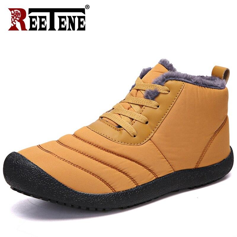 REETENE Super Warm Men Winter Boots For Men Warm Fur Waterproof Rain Boots Shoes Plush Men'S Ankle Snow Boot Botas Masculina 2