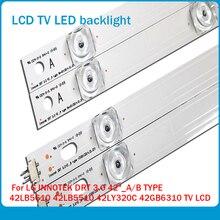 "100% NEW!! 8 PCS(4 * A,4 * B)825mm LED 스트립 8 LED LG INNOTEK DRT 3.0 42 ""_ A/B 유형 42LB5610 42LB5510 42LY320C 42GB6310 TV LCD"